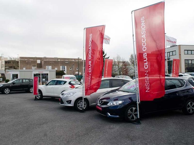 Bulle de vente pour une concession Nissan dans la Marne (51)